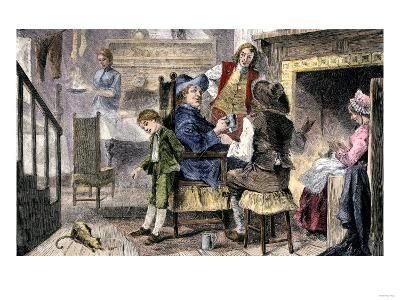 Dutch Family at Home in Colonial New York--Giclee Print