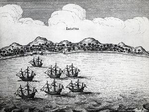 Dutch Fleet of Admiral Cornelis De Jonge Matelief (Ca 1569-1632) in Jakarta in 1607