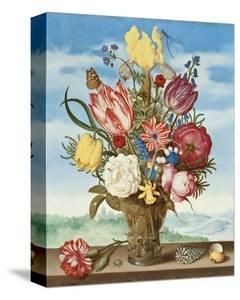 Ambrosius Bosschaert, Bouquet of Flowers on a Ledge by Dutch Florals