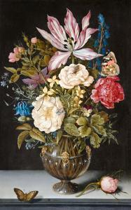 Ambrosius Bosschaert, Still-Life with Flowers by Dutch Florals