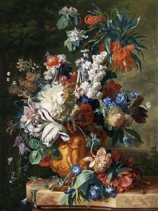 Jan van Huysum, Bouquet of Flowers in an Urn by Dutch Florals