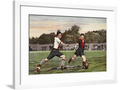 Dutch Football: Olympia V. Hollandiaan, from a Album Issued by Miss Blanche Cigarettes, 1934--Framed Giclee Print