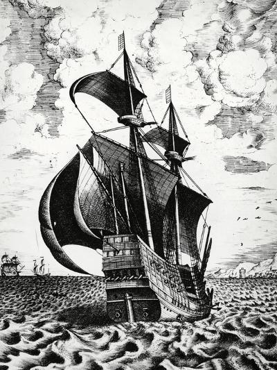Dutch Galleon, 17th Century--Giclee Print