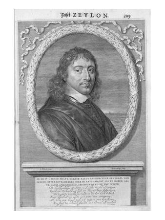 Gerard Hulft, First Director General of the Dutch East Indies (Engraving)
