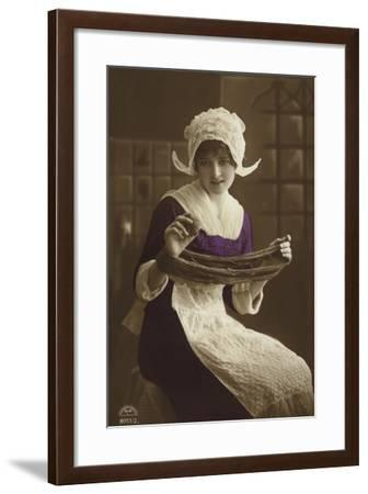 Dutch Girl--Framed Photographic Print