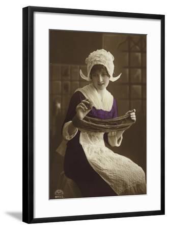 Dutch Girl--Framed Photographic Print