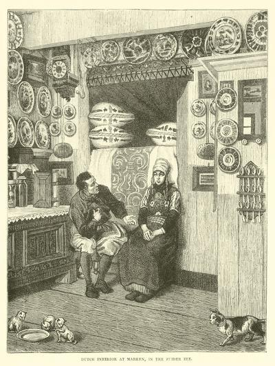 Dutch Interior at Marken, in the Zuider Zee--Giclee Print