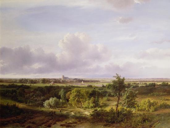 Dutch Landscape, 19th Century-Pieter Lodewijk Francisco Kluyver-Giclee Print