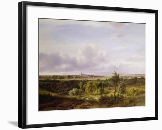 Dutch Landscape, 19th Century-Pieter Lodewijk Francisco Kluyver-Framed Giclee Print