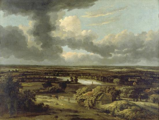 Dutch Landscape with View from Dunes on Plain, Um 1664-Philips Koninck-Giclee Print
