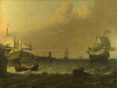 Dutch Men-Of-War Entering a Mediterranean Port, 1681-Ludolf Bakhuizen-Giclee Print