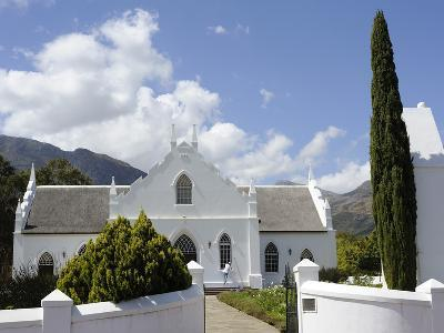 Dutch Reformed Church Dating from 1841, Franschhoek, the Wine Route, Cape Province, South Africa-Peter Groenendijk-Photographic Print