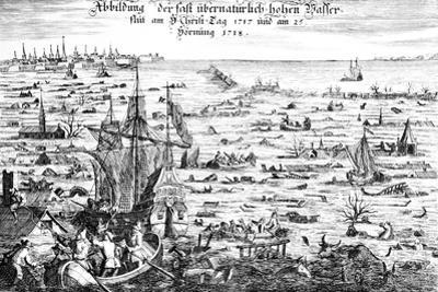 The Christmas Flood of 1717, 1719 by Dutch School
