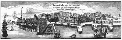 Dutch Settlement of New Amsterdam, 1673--Giclee Print