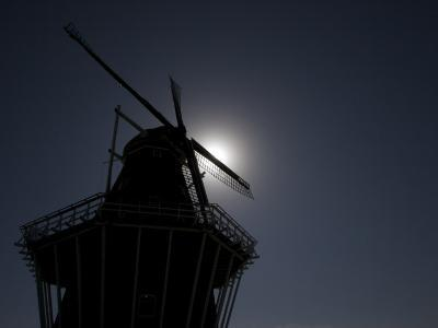 Dutch Windmill in Holland, Mi-Tim Laman-Photographic Print