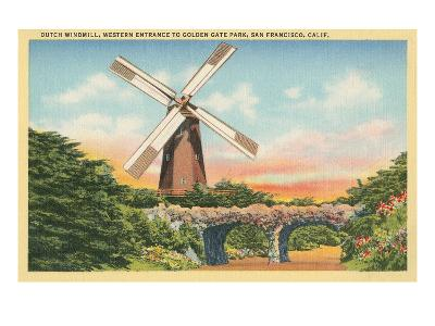 Dutch Windmill, San Francisco--Art Print