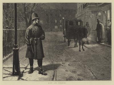 Duty and Pleasure-Charles Green-Giclee Print