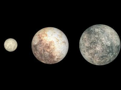 Dwarf Planets Ceres, Pluto, and Eris-Stocktrek Images-Photographic Print