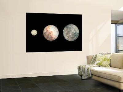 Dwarf Planets Ceres, Pluto, and Eris-Stocktrek Images-Wall Mural