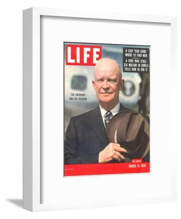 Dwight D. Eisenhower, March 12, 1956-Hank Walker-Framed Premium Photographic Print