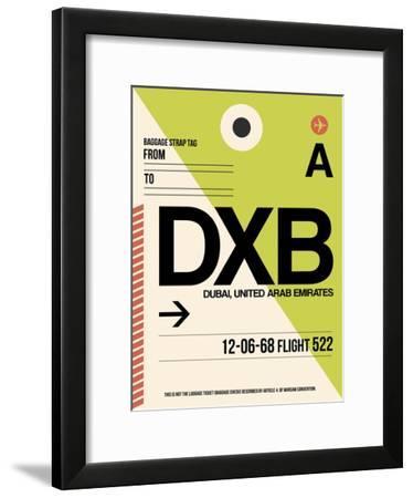 DXB Dubai Luggage Tag I-NaxArt-Framed Art Print