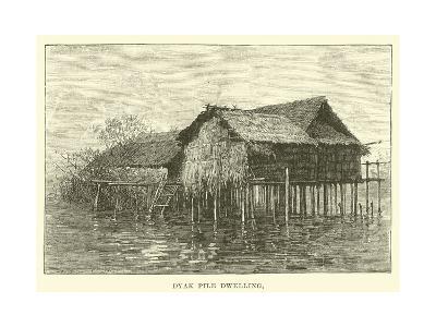 Dyak Pile Dwelling--Giclee Print