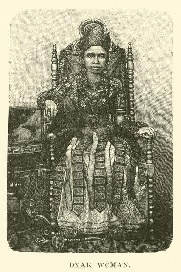 Dyak Woman--Giclee Print