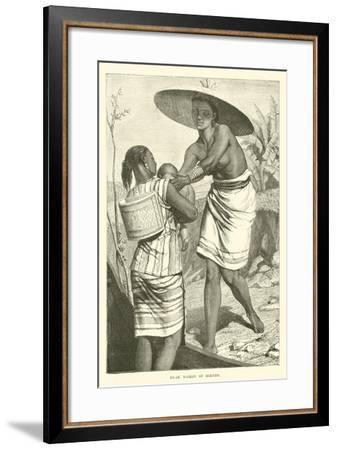 Dyak Women of Borneo--Framed Giclee Print