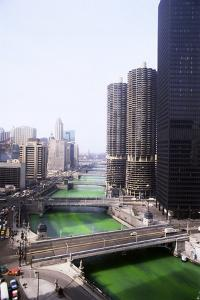 Dyeing Chicago River Green for St.Patricks Day