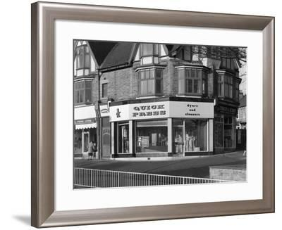 Dyers and Cleaners Shop Front, 480 Fulwood Road, Sheffield, South Yorkshire, January 1967-Michael Walters-Framed Photographic Print