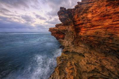 Dynamic Seascape Textures, Kauai Hawaii-Vincent James-Photographic Print