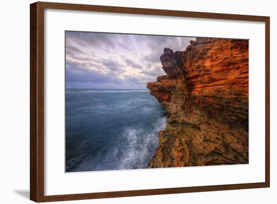 Dynamic Seascape Textures, Kauai Hawaii-Vincent James-Framed Photographic Print