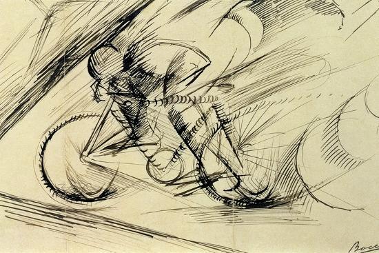 Dynamism of a Cyclist, 1913-Umberto Boccioni-Premium Giclee Print