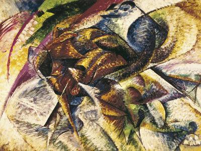 Dynamism of a Cyclist-Umberto Boccioni-Art Print