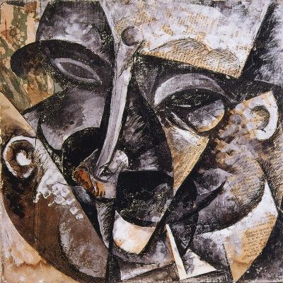 Dynamism of a Man's Head, 1914-Umberto Boccioni-Giclee Print