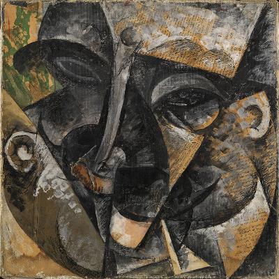 Dynamism of a Man's Head or Composition of a Woman's Head (Dinamismo Di Una Testa Di Uomo)-Umberto Boccioni-Giclee Print