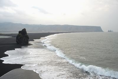 Dyrholaos, Dyrholaey, Arnardrangur, Reynisfjara, Reynisdrangar Background, Vik Area, South Iceland-Julia Wellner-Photographic Print