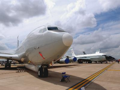 E-8C Joint Surveillance Target Attack Radar System and a RC-135V/W Rivet Joint Aircraft-Stocktrek Images-Photographic Print
