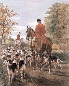 Evening Return to the Kennels by E.a.s. Douglas