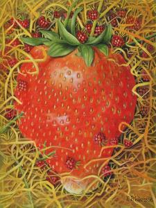 Strawberry in Straw, 1998 by E.B. Watts