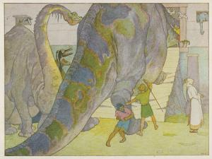 Noah Finds That the Dinosaurs are Too Large to be Saved in His Ark by E. Boyd Smith