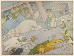 Noah's Ark, Some of the Animals Suffer from Sea-Sickness by E. Boyd Smith