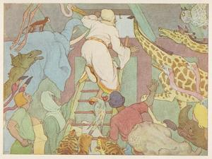 Noah's Ark, The Ark's Passengers Have Their First Sight of Land by E. Boyd Smith