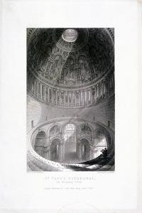 St Paul's Cathedral Interior, London, 1837 by E Challis