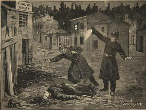 A Street in Whitechapel: the Last Crime of Jack the Ripper, from 'Le Petit Parisien', 1891 by E. Dete Beltrand and Clair-Guyot