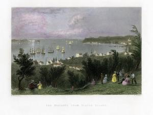 The Narrows as Seen from Staten Island, New York, USA, 1837 by E Finden