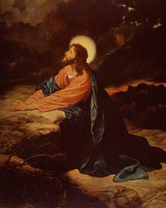 Christ in Gethsemane by E^ Goodman
