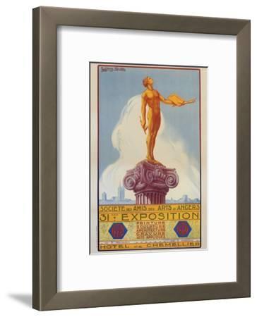 Societe Des Amis Des Arts D'Angers Exposition Poster
