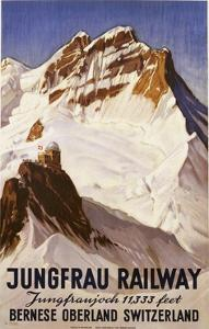 Jungfrau Railway Poster by E. Hovel