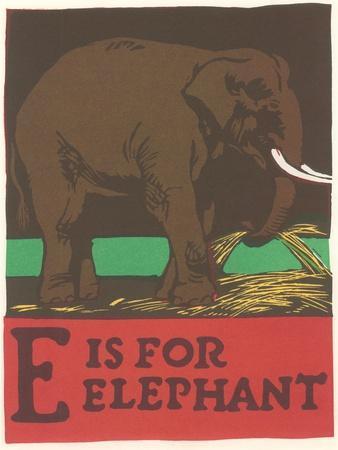 E Is For Elephant Art Print By Art Com